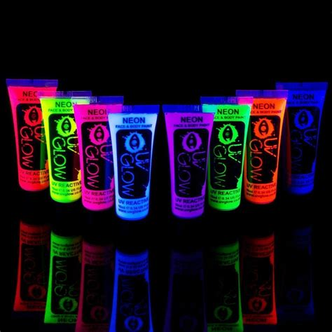 glow in the paint industrial neon glow in the and paint 8pcs uv