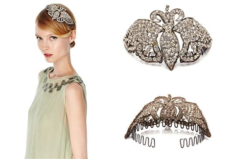 Gatsby style hair accessories add oomph and glamour to