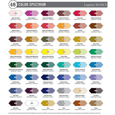 acrylic paint colors liquitex basics acrylic paint 36 set new