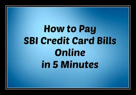how to make payment of credit card how to pay sbi credit card bill in 5 minutes