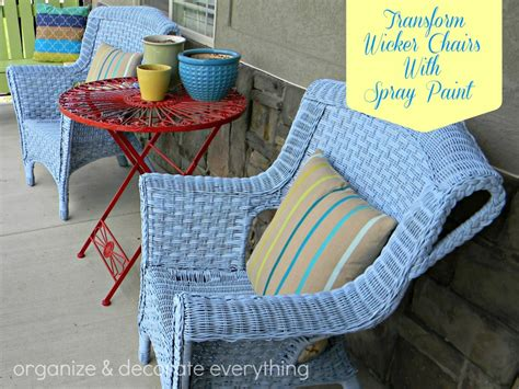 spray painting wicker transform wicker chairs with spray paint organize and