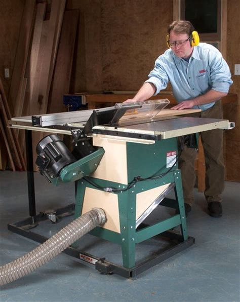 american woodworking table saw dust collection workshop stuff