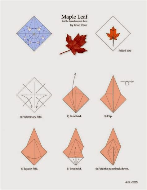 origami leave maple leaf origami paper origami guide