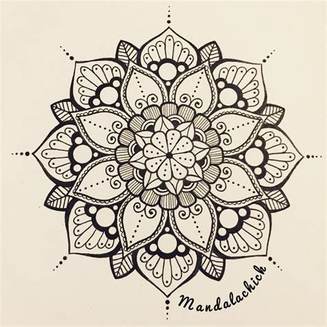 mandala mandalas draw flower on instagram