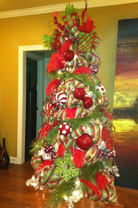 green decorated tree tree with beautifully decorated with and
