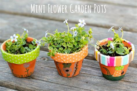 flower pot kid craft diy mini flower garden pots