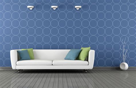 blue interior design living room beautiful living room wallpaper feature wall