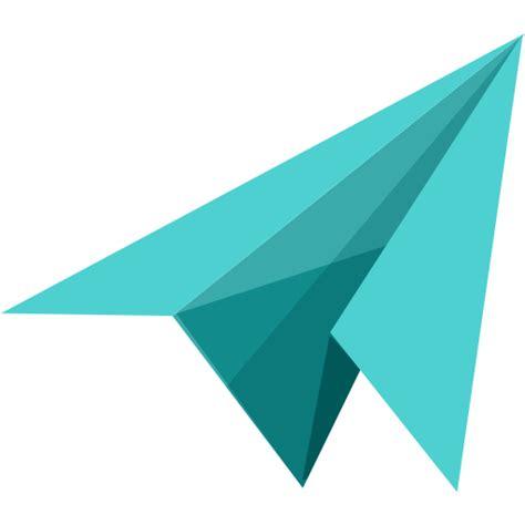 transparent origami paper message icon myiconfinder