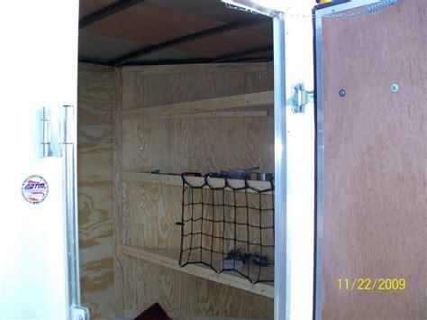 enclosed trailer shelves enclosed trailer shelving car interior design