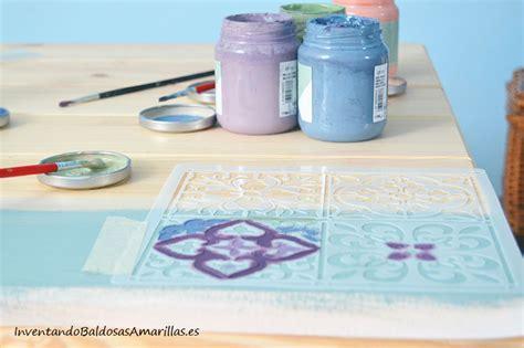 chalk paint y barniz recicla tus muebles con un dise 241 o de baldosas hidr 225 ulicas