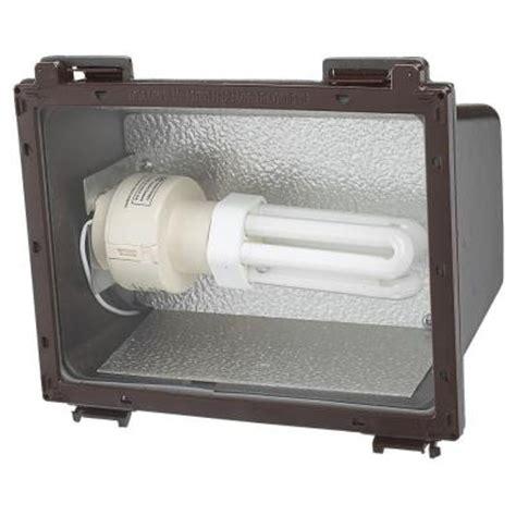 outdoor flood lights home depot sea gull lighting outdoor wall packs 1 light bronze