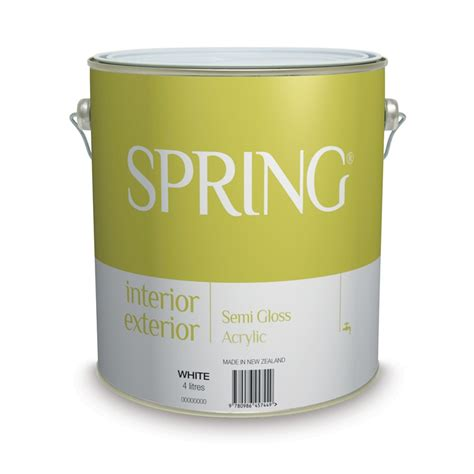 acrylic paint bunnings interior exterior acrylic semi gloss 4l white