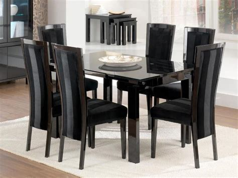 black dining tables and chairs modern black dining tables contemporary furniture