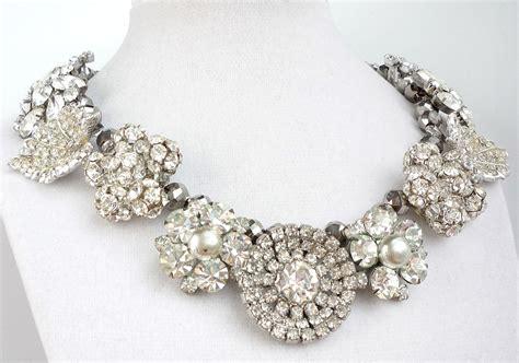 rhinestones for jewelry chunky wedding jewelry statement necklace rhinestones