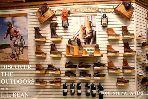 rubber st stores l l bean store in a shoe store