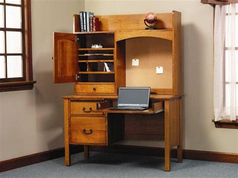 desks with storage amish rivertowne 48 quot desk with storage hutch top and corkboard
