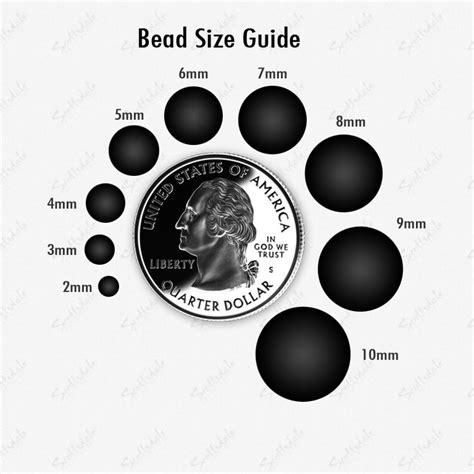 bead sizing chart bead size guide beading techniques