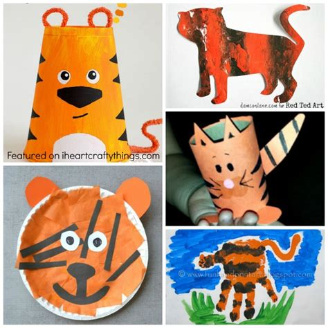 tiger crafts for 50 zoo animal crafts for i crafty things