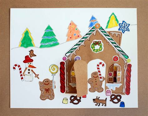 gingerbread house paper craft craft kit gingerbread house paper craft kit for