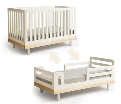 crib to bed furniture oeuf eco friendly convertible crib inhabitat green