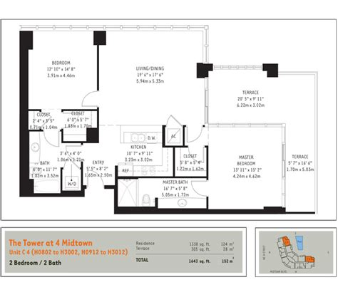 floorplans midtown miami residences