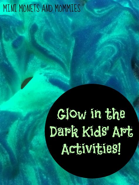 Mini Monets And Mommies Glow In The Paint