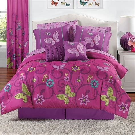 purple butterfly bedding details about 10 comforter bedding set pink