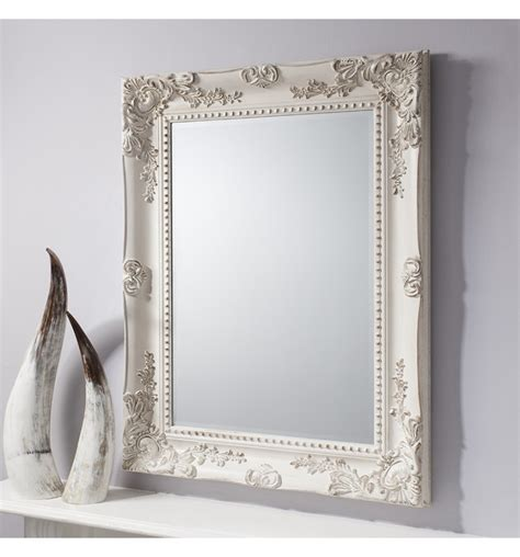 vintage shabby chic mirrors winslet baroque shabby chic antique white vintage style
