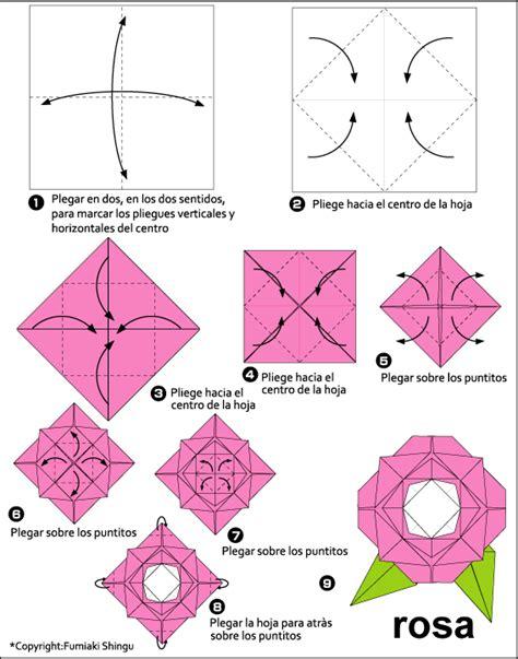 rosa de origami pasos para hacer rosa en origami imagui