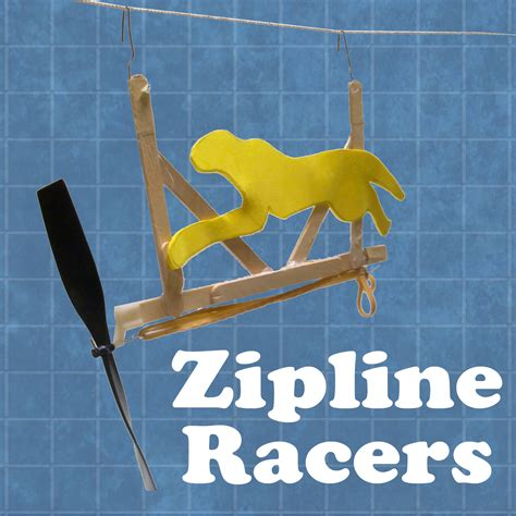 rubber sting projects propeller powered zipline racers all