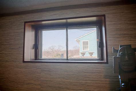 Basement Window Treatment by A Little Bit Tiki A Little Bit Rock N Roll John Asks