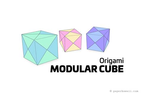 origami cube one sheet how to make a modular origami cube box