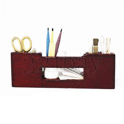 office desk pen holder 1to12 wooden miniature office desk accessories scissors