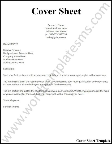 letter cover sheet cover page for resume whitneyport daily com