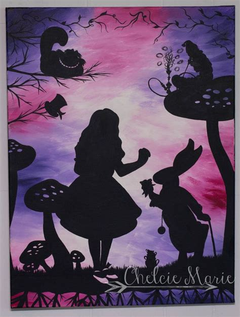 acrylic painting disney 25 best ideas about disney silhouette painting on