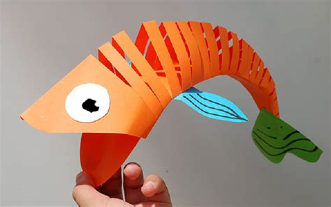 paper bag fish craft how to make a cool moving fish out of paper