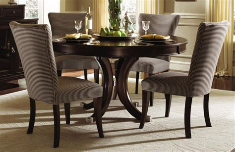 dining room sets with fabric chairs formal dining room design with espresso finish