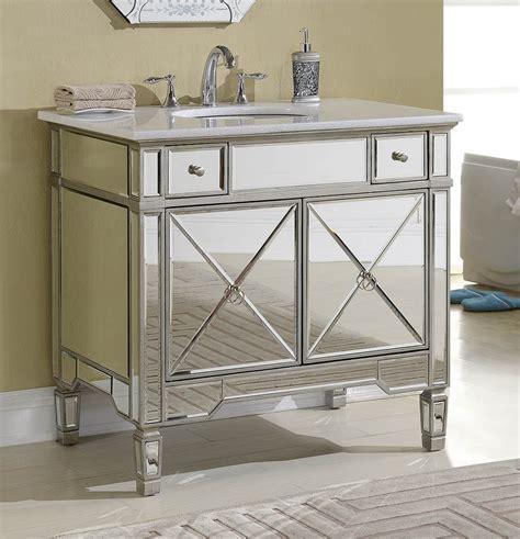 mirrored bathroom vanity cabinets adelina 36 inch mirrored silver bathroom vanity white