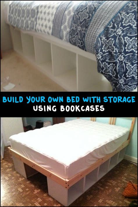 how to make a bed frame with storage best 25 bookcase bed ideas on book shelf