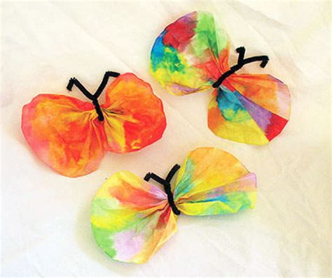 easy kid crafts easy crafts coffee filter butterfly craft