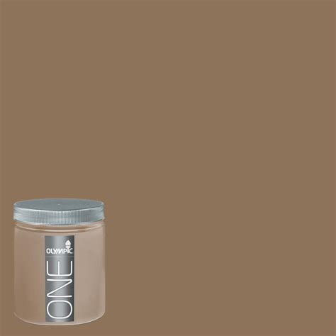 paint colors lowes interior shop olympic 8 oz hat box brown interior satin paint