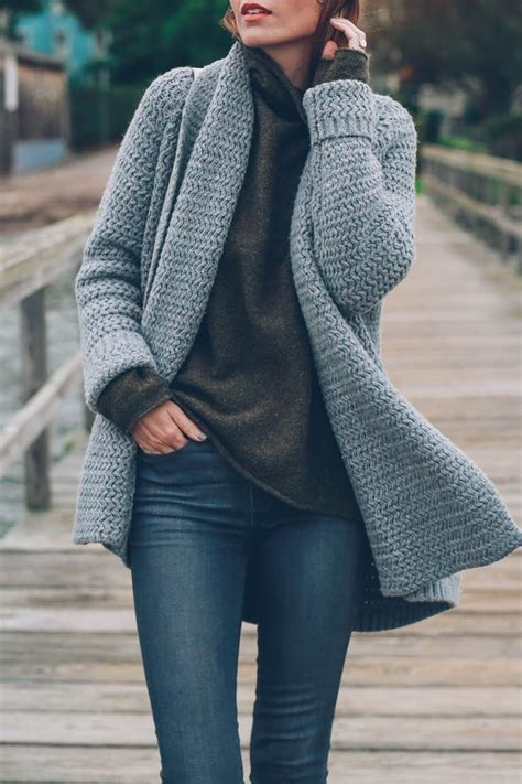 how to wear a knitted cardigan best 25 chunky knit cardigan ideas on chunky