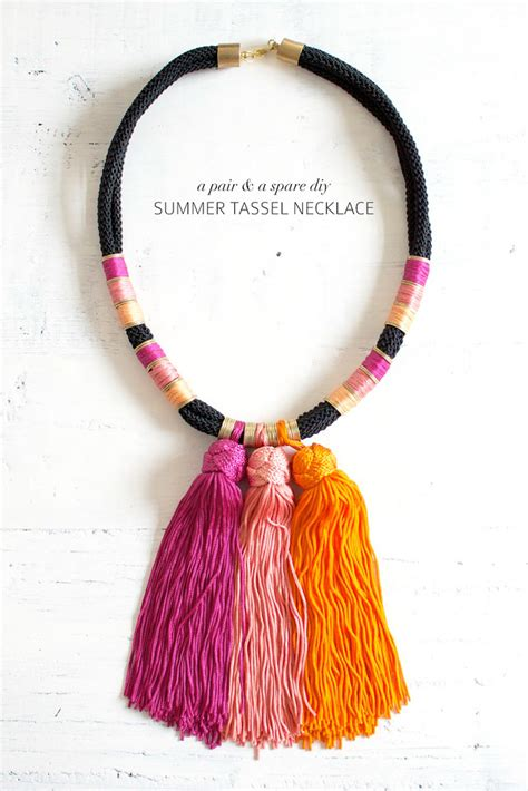tassels for jewelry diy summer tassel necklace a pair a spare