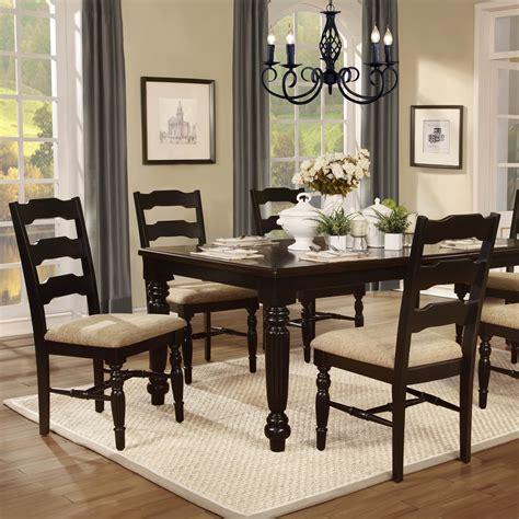 dining room sets black homelegance sutherlin 5 dining room set in black