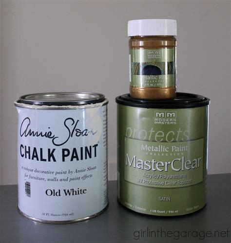 chalk paint masters gold and white stenciled table themed makeover in