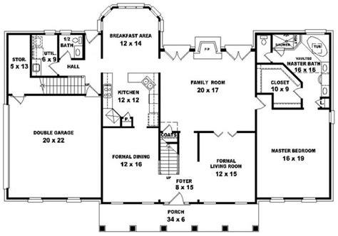 Five Bedroom House Plans 654699 georgian style 4 bedroom 3 5 bath house plan