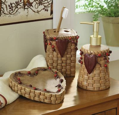 country bathroom accessories collections etc find unique gifts at