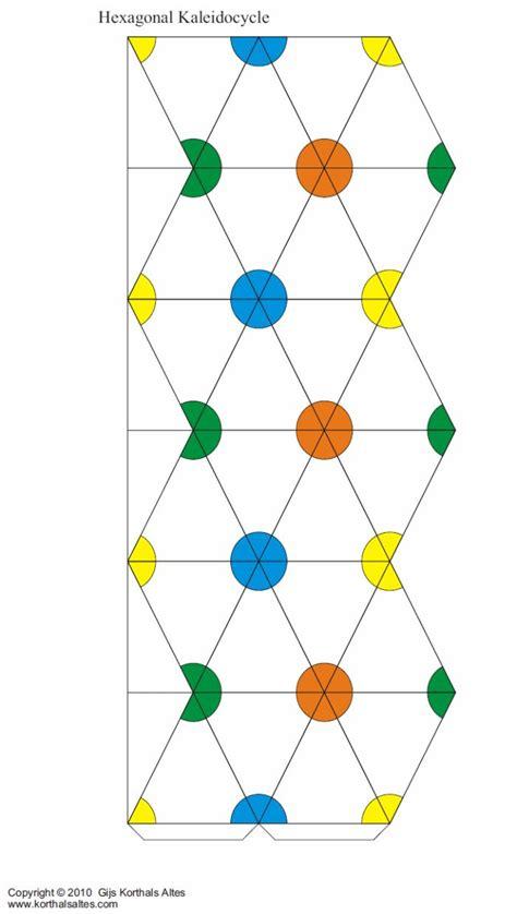 hexaflexagon origami net hexagonal kaleidocycle 도안 origami diy