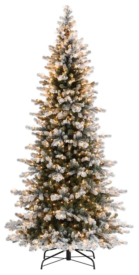 snow frosted tree decoration ideas slim frosted artificial tree