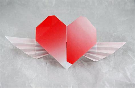 origami hearts with wings origami wings 171 embroidery origami
